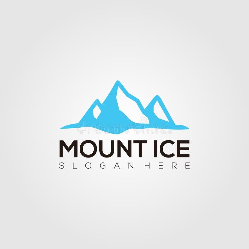 Vector del logotipo del hielo del montaje ilustración del vector
