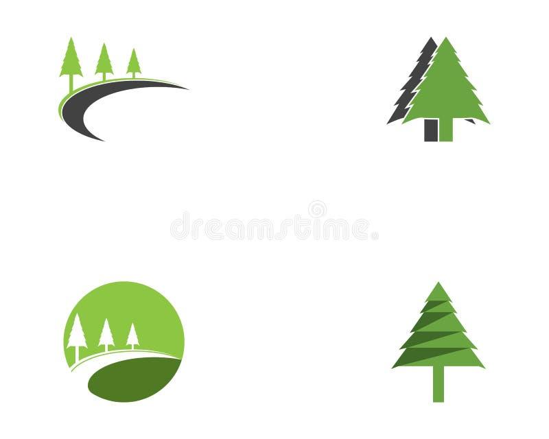 Vector del logotipo del icono del árbol stock de ilustración