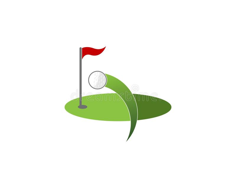 Vector del logotipo del icono del campo del golf ilustración del vector