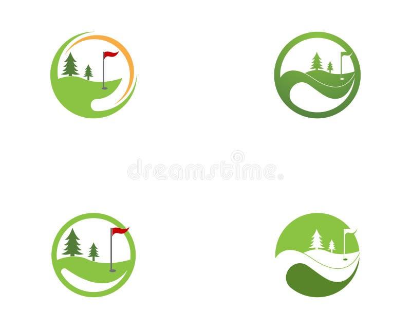 Vector del logotipo del icono del campo del golf stock de ilustración