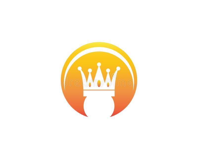 Vector del logotipo del icono de la corona stock de ilustración