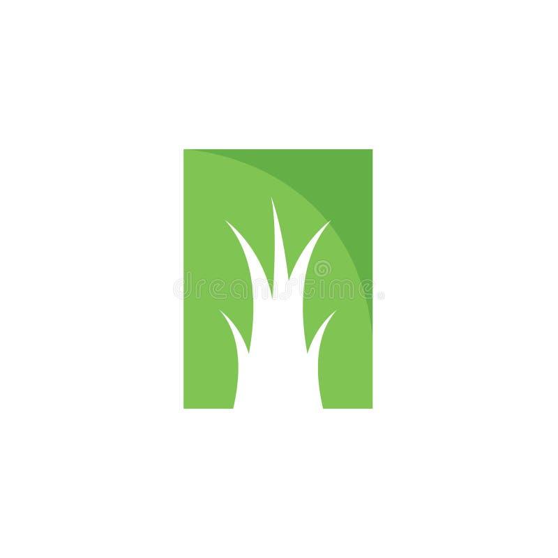 Vector del logotipo del ilustration de la hierba stock de ilustración