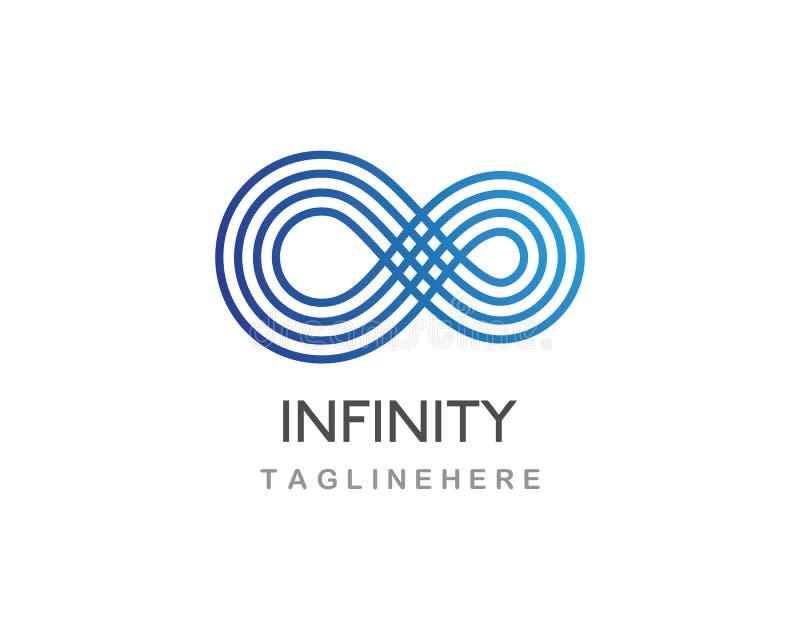 Vector del logotipo del infinito stock de ilustración
