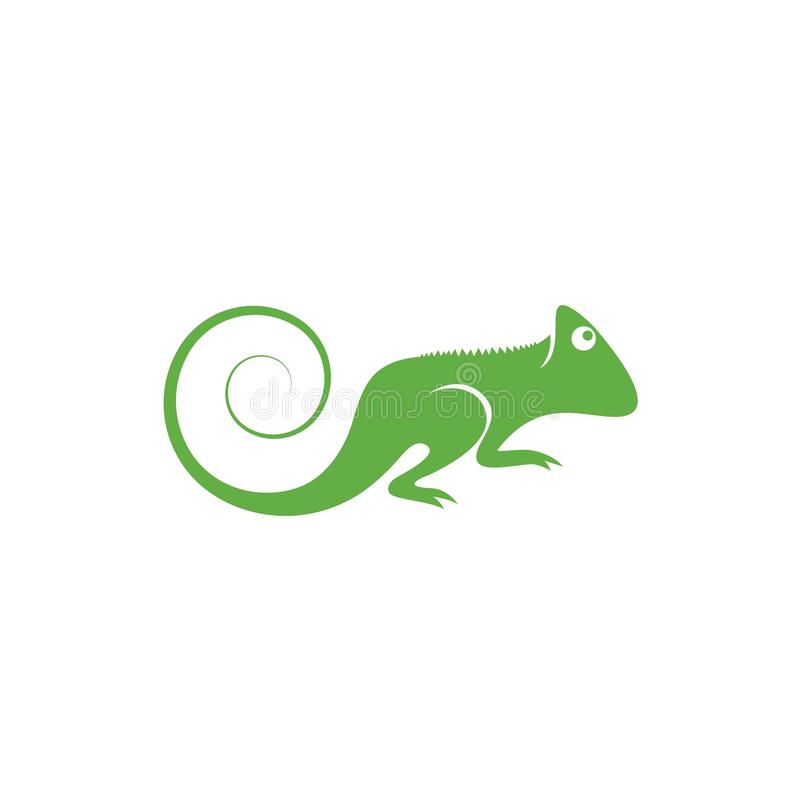 Vector del logotipo del lagarto ilustración del vector