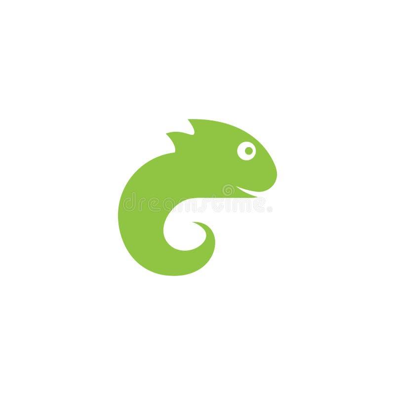 Vector del logotipo del lagarto stock de ilustración
