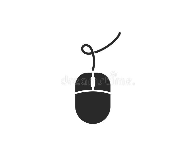 Vector del logotipo del ratón del ordenador stock de ilustración