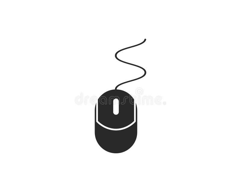 Vector del logotipo del ratón del ordenador ilustración del vector