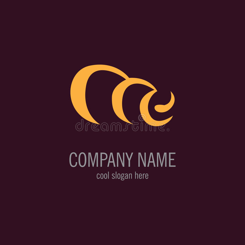 Vector del logotipo del remolino imagen de archivo