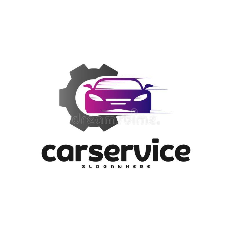 Vector del logotipo del servicio del coche Reparación Logo Design Template del coche libre illustration