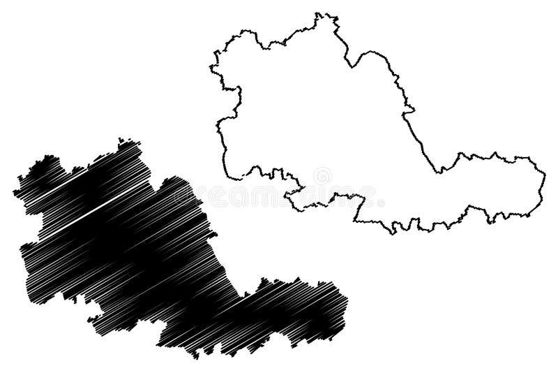 Vector del mapa del condado del West Midlands libre illustration