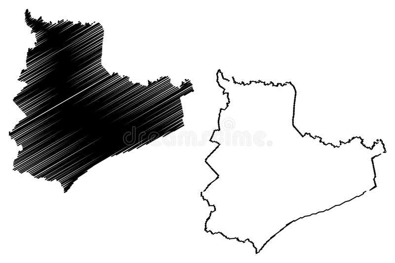 Vector del mapa de Bac Lieu Province libre illustration