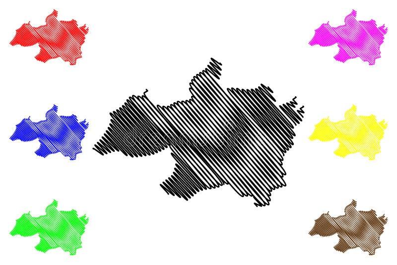 Vector del mapa de Bordj Bou Arreridj Province