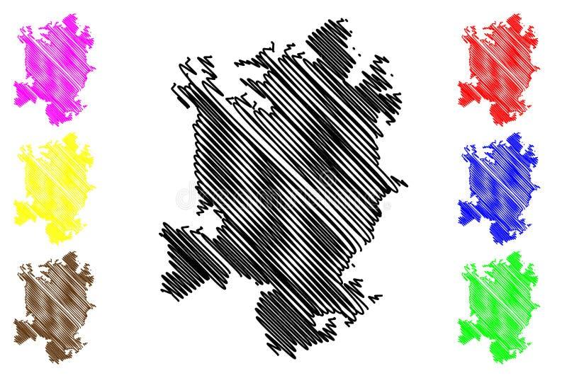 Vector del mapa de Charlotte City libre illustration