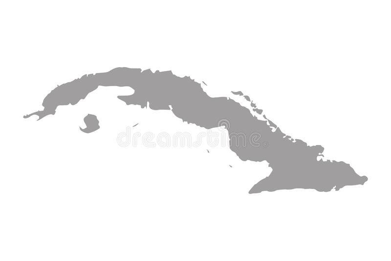 Vector del mapa de Cuba / mapa de Cuba ilustración del vector