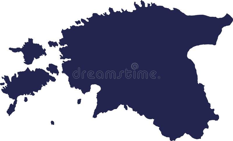 Vector del mapa de Estonia stock de ilustración