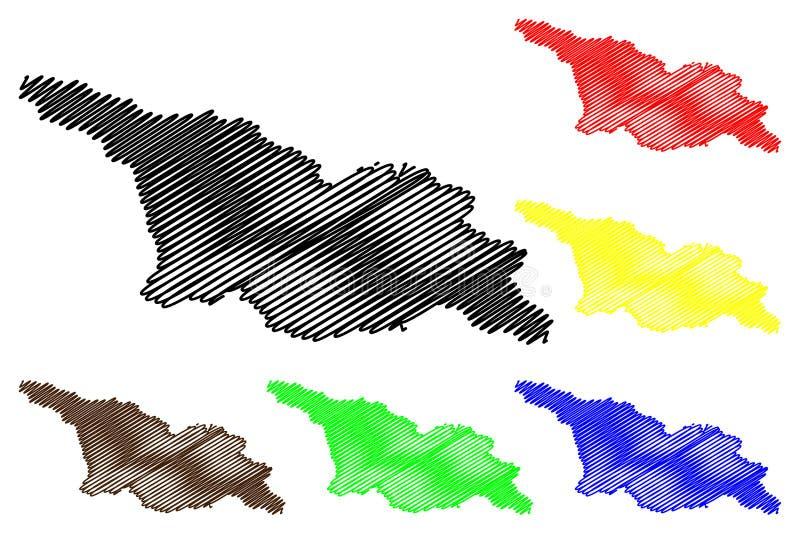 Vector del mapa de Georgia libre illustration