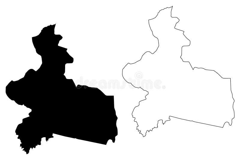 Vector del mapa de la región Centro-Est stock de ilustración
