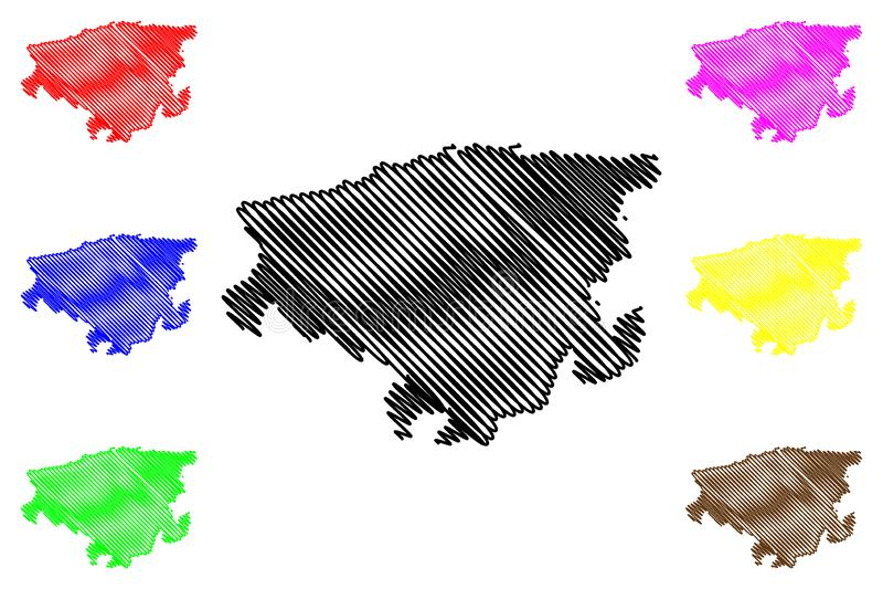 Vector del mapa de Lara State ilustración del vector