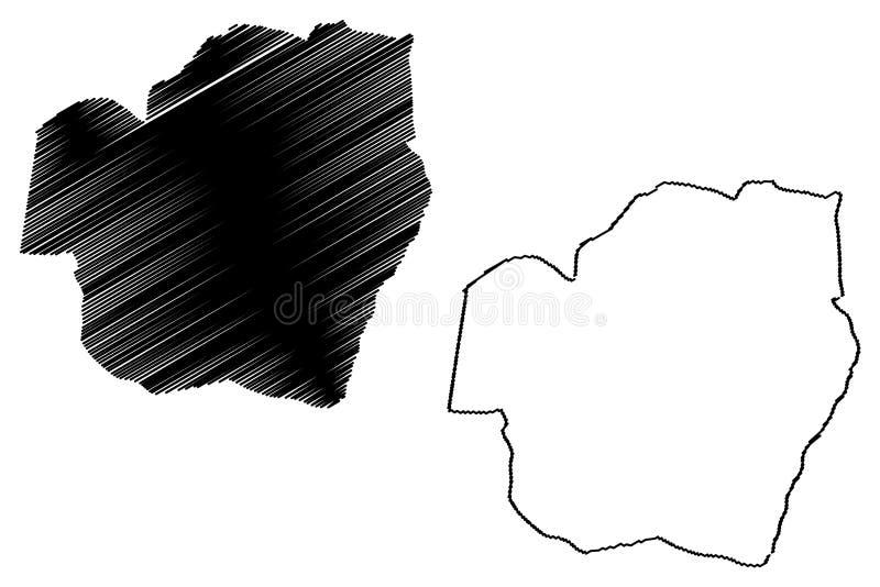 Vector del mapa del estado de la OMI libre illustration