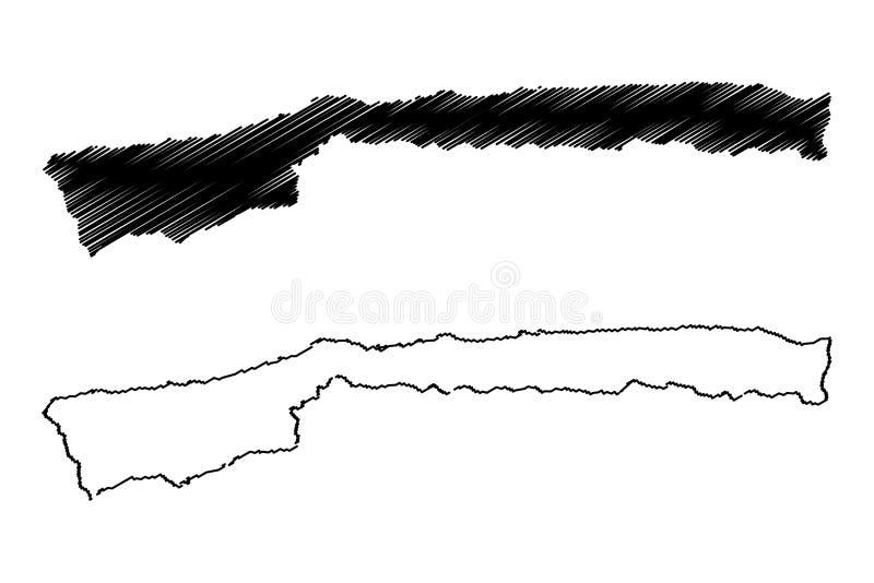 Vector del mapa del estado de Vargas ilustración del vector
