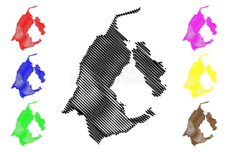 Vector del mapa del estado de Zulia ilustración del vector