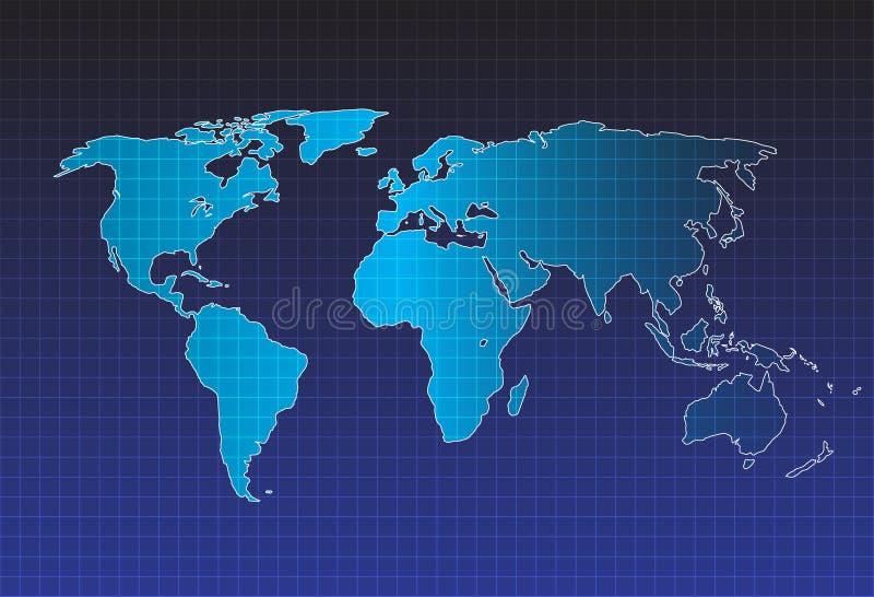 Vector del mapa del mundo, concepto de InfoGraphic, mapa plano de la tierra para el sitio web, informe anual, ejemplo del mapa de ilustración del vector