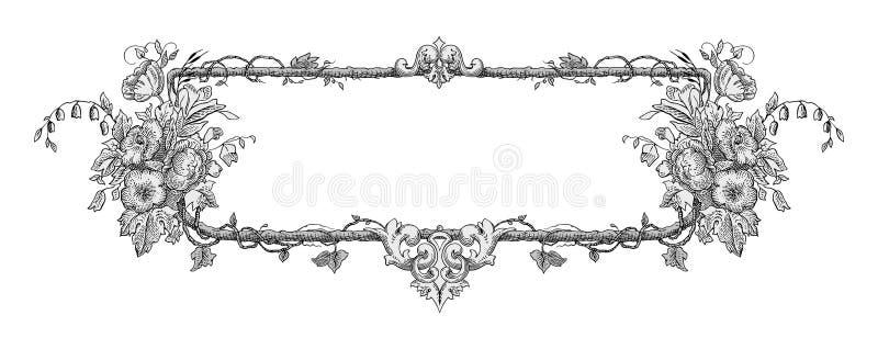 Vector del marco de la flor libre illustration