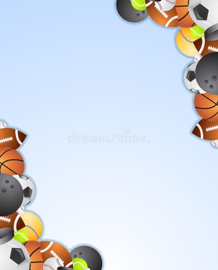Vector del marco del deporte stock de ilustración