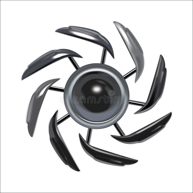 Vector del metal decorativo ilustración del vector