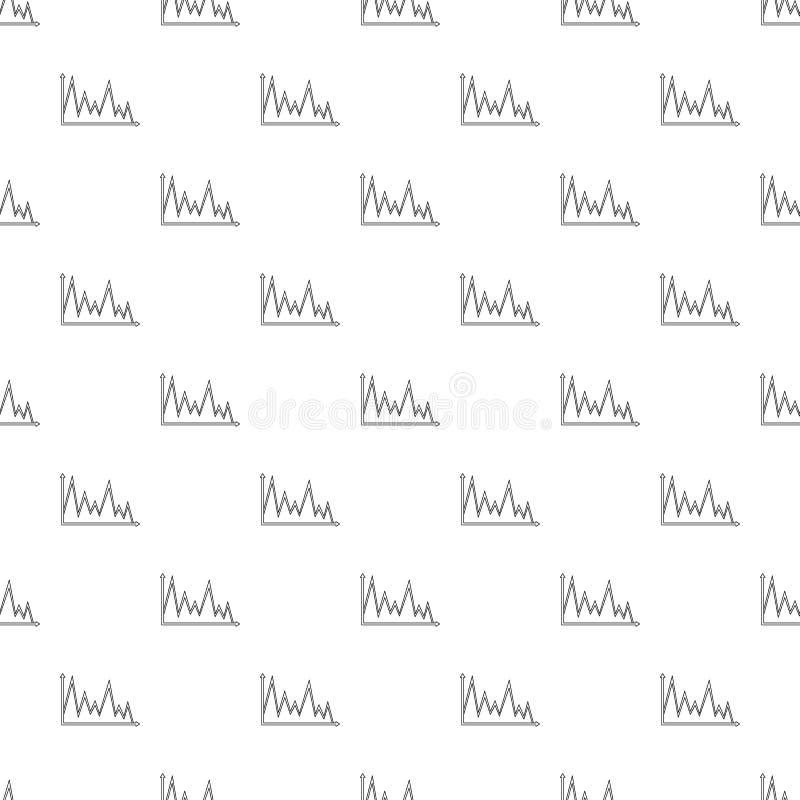 Vector del modelo del gráfico de las finanzas inconsútil stock de ilustración