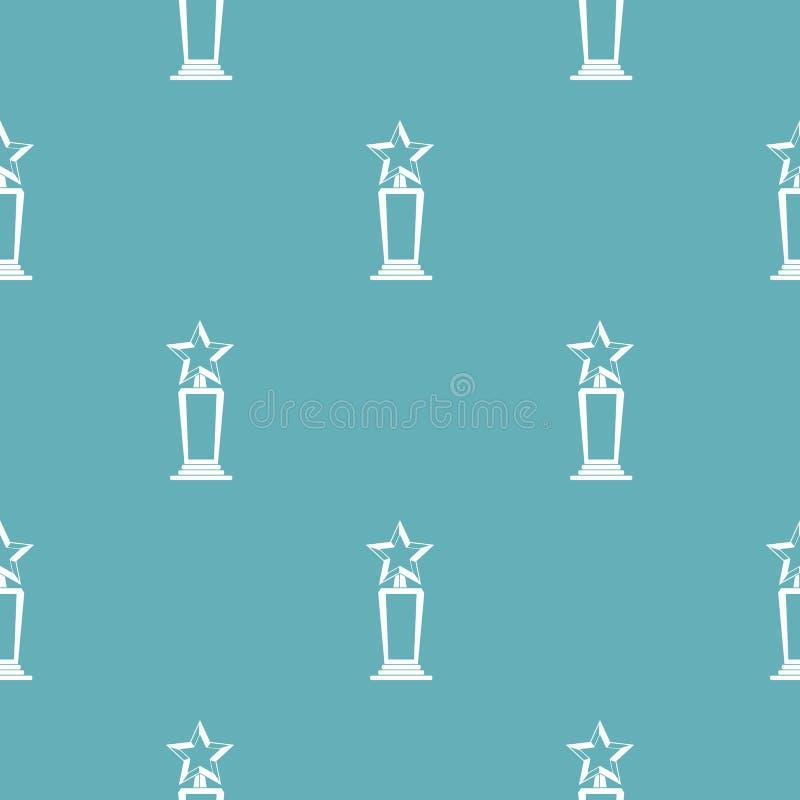 Vector del modelo del premio de la estrella inconsútil stock de ilustración