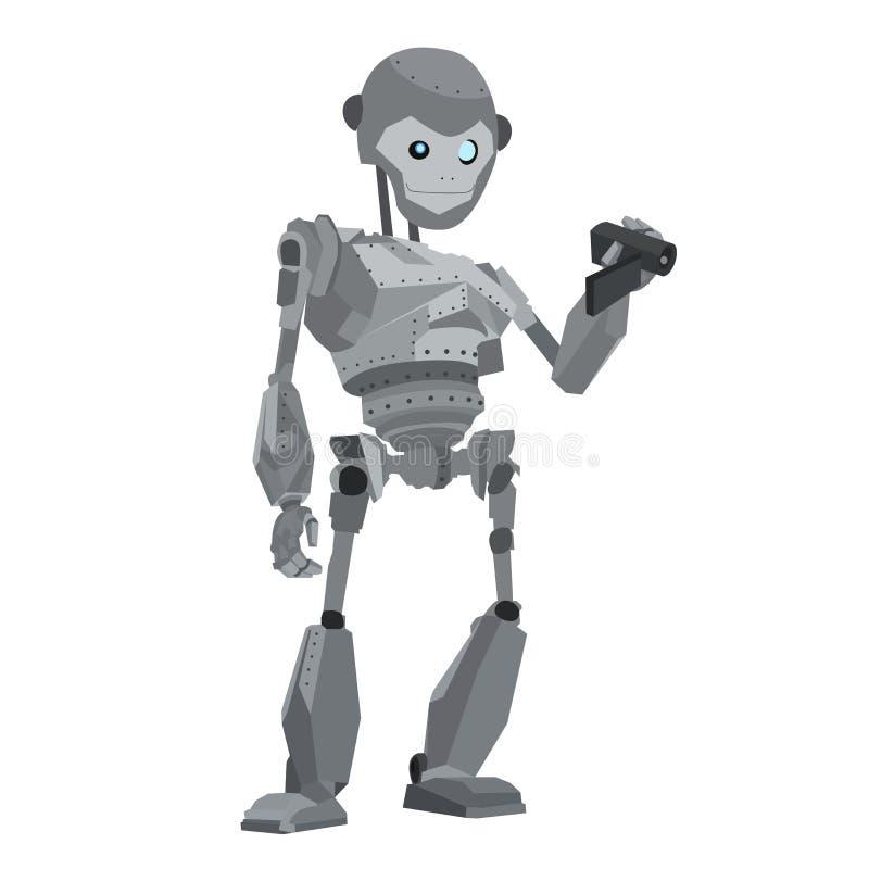 Vector del mono del robot stock de ilustración