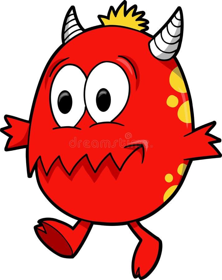 Vector del monstruo del diablo stock de ilustración