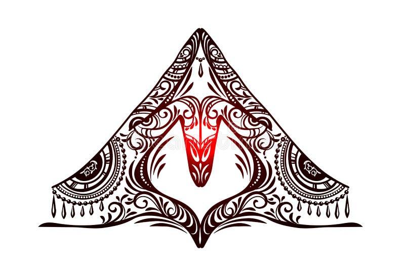 Vector del mudra de la yoga stock de ilustración