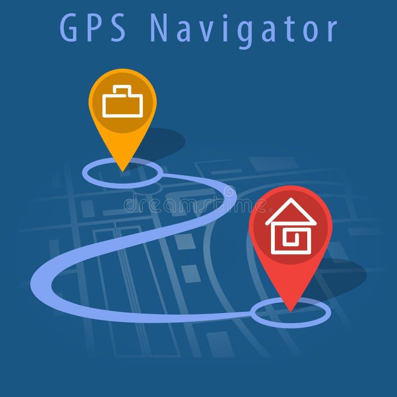 Vector del navegador de GPS ilustración del vector