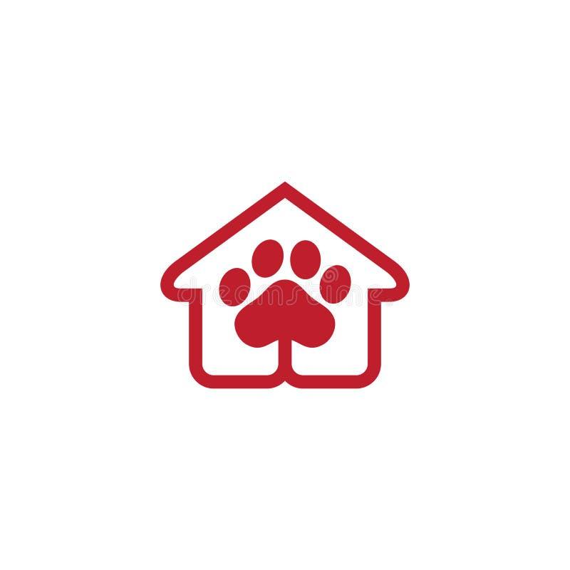 Vector del negocio del logotipo de la tienda de animales stock de ilustración