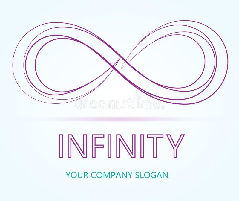 Vector del negocio del logotipo del infinito stock de ilustración