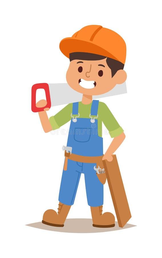 Vector del niño de los constructores stock de ilustración