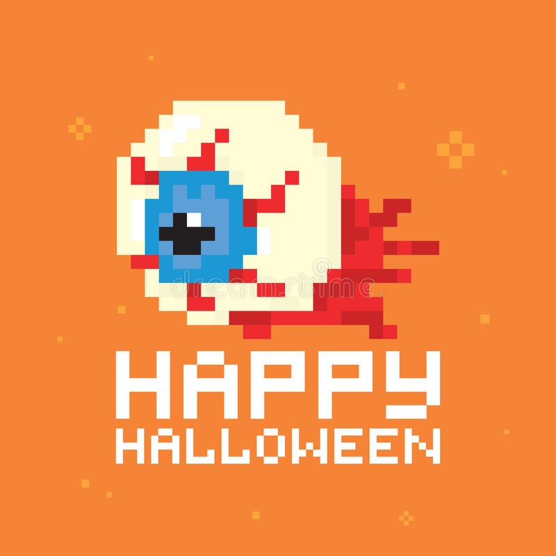 Vector del ojo del feliz Halloween libre illustration