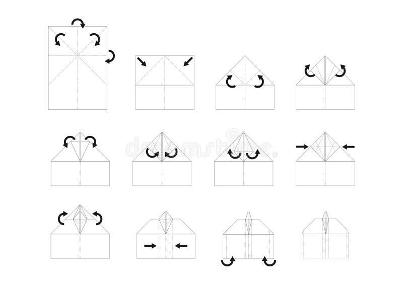Vector del origami de la instrucción imágenes de archivo libres de regalías