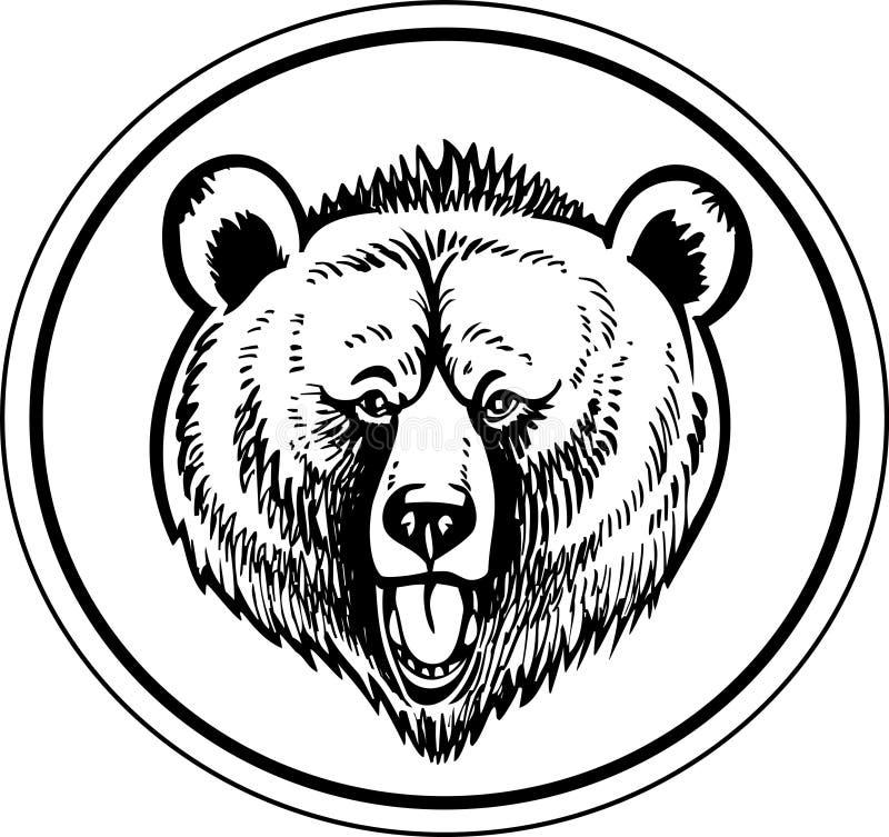Vector del oso de Brown del grisáceo ilustración del vector