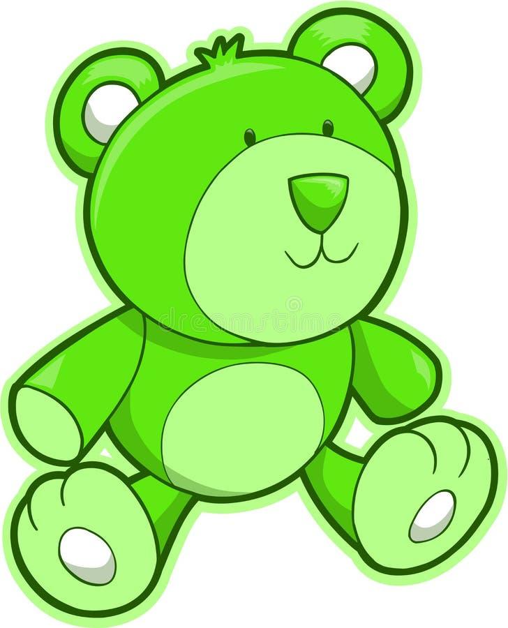 Vector del oso del peluche stock de ilustración