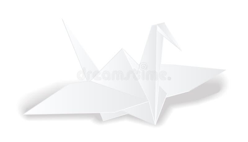 Vector del pájaro del Libro Blanco de la grúa de la papiroflexia aislado ilustración del vector