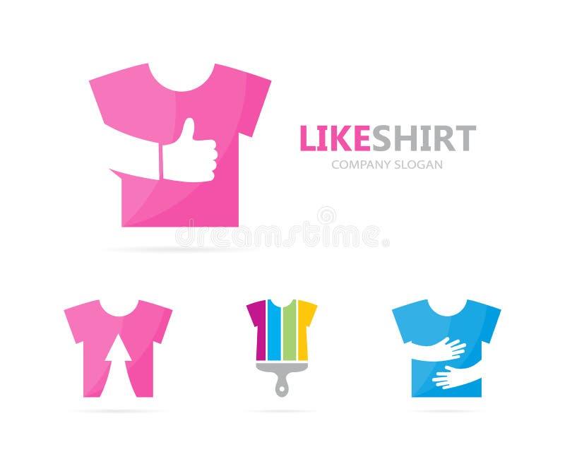 Vector del paño y como la combinación del logotipo Camisa y el mejor símbolo o icono Diseño único del logotipo de la moda y de la libre illustration