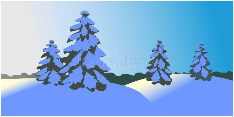 Vector del paisaje del invierno ilustración del vector