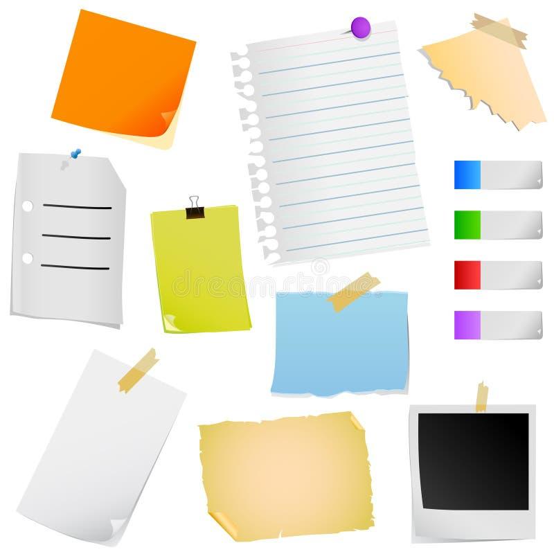 Vector del papel de nota stock de ilustración