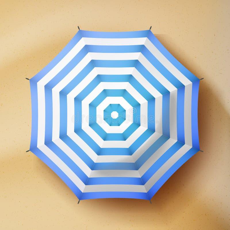 Vector del parasol de playa del verano Opinión superior de la sombrilla del parasol ilustración del vector