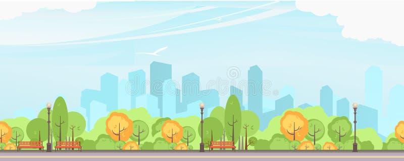 Vector del parque de la ciudad stock de ilustración