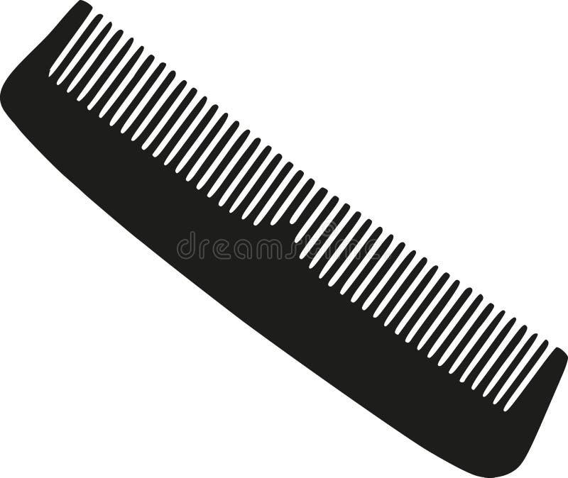 Vector del peine del peluquero stock de ilustración
