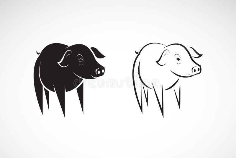 Vector del pequeño diseño del cerdo en un fondo blanco Animales del campo ilustración del vector
